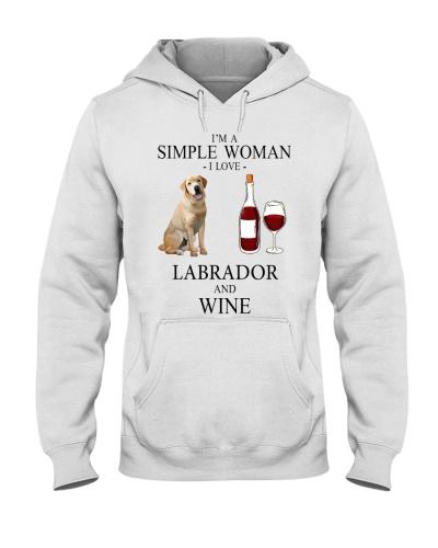 Labrador and wine