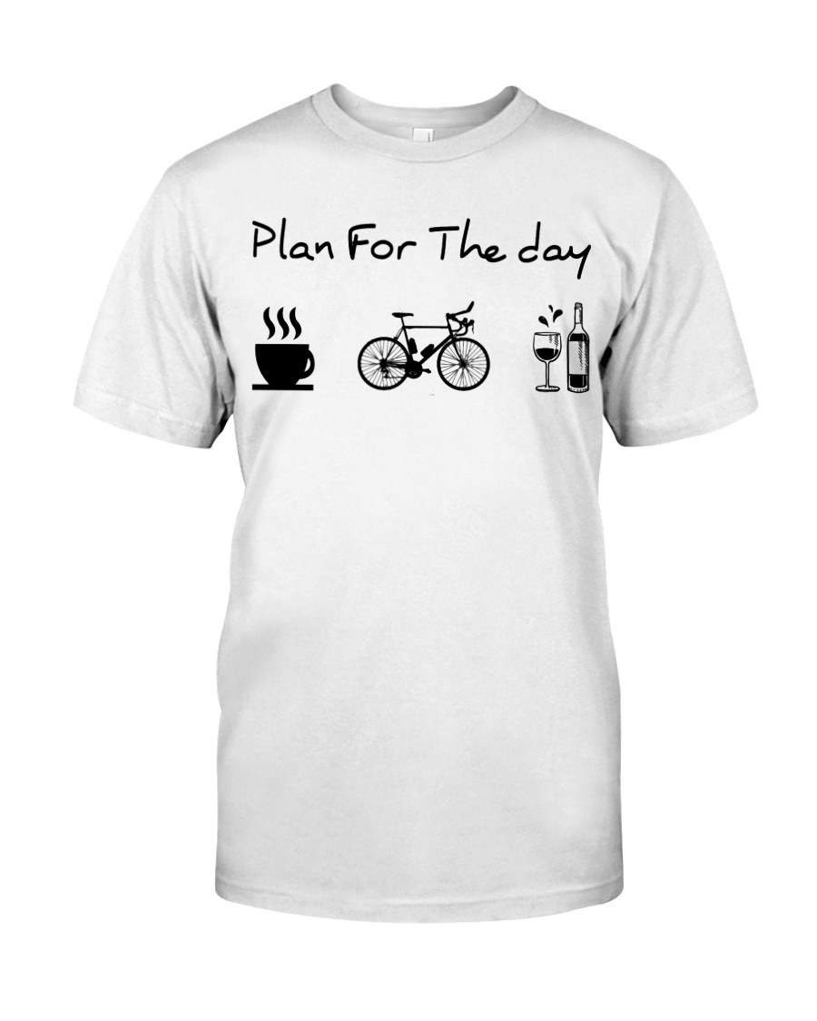 cycling coffe and wine Classic T-Shirt
