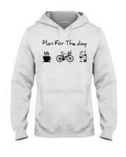 cycling coffe and wine Hooded Sweatshirt thumbnail