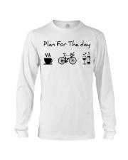 cycling coffe and wine Long Sleeve Tee thumbnail