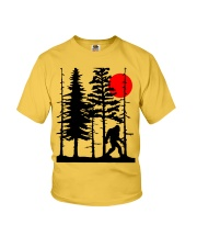 Bigfoot Hiding in Forest Youth T-Shirt thumbnail