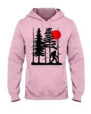 Bigfoot Hiding in Forest Hooded Sweatshirt front