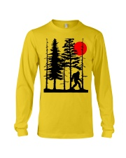Bigfoot Hiding in Forest Long Sleeve Tee thumbnail