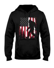 Bigfoot  American USA Flag Hooded Sweatshirt front