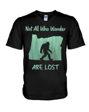 Not All Who Wander Are Lost - Oregon V-Neck T-Shirt thumbnail