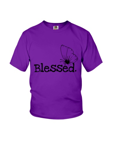 Simple Blessed Inspirational Butterfly