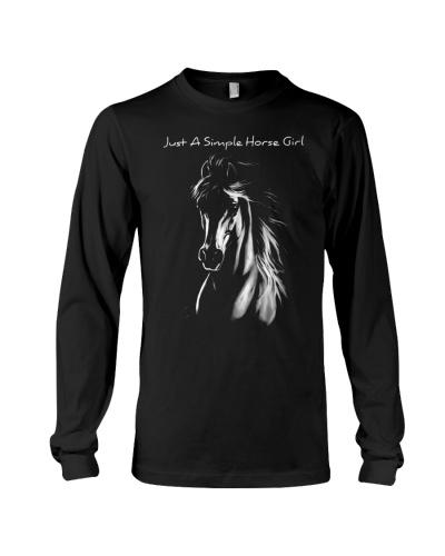 horse light simple girl