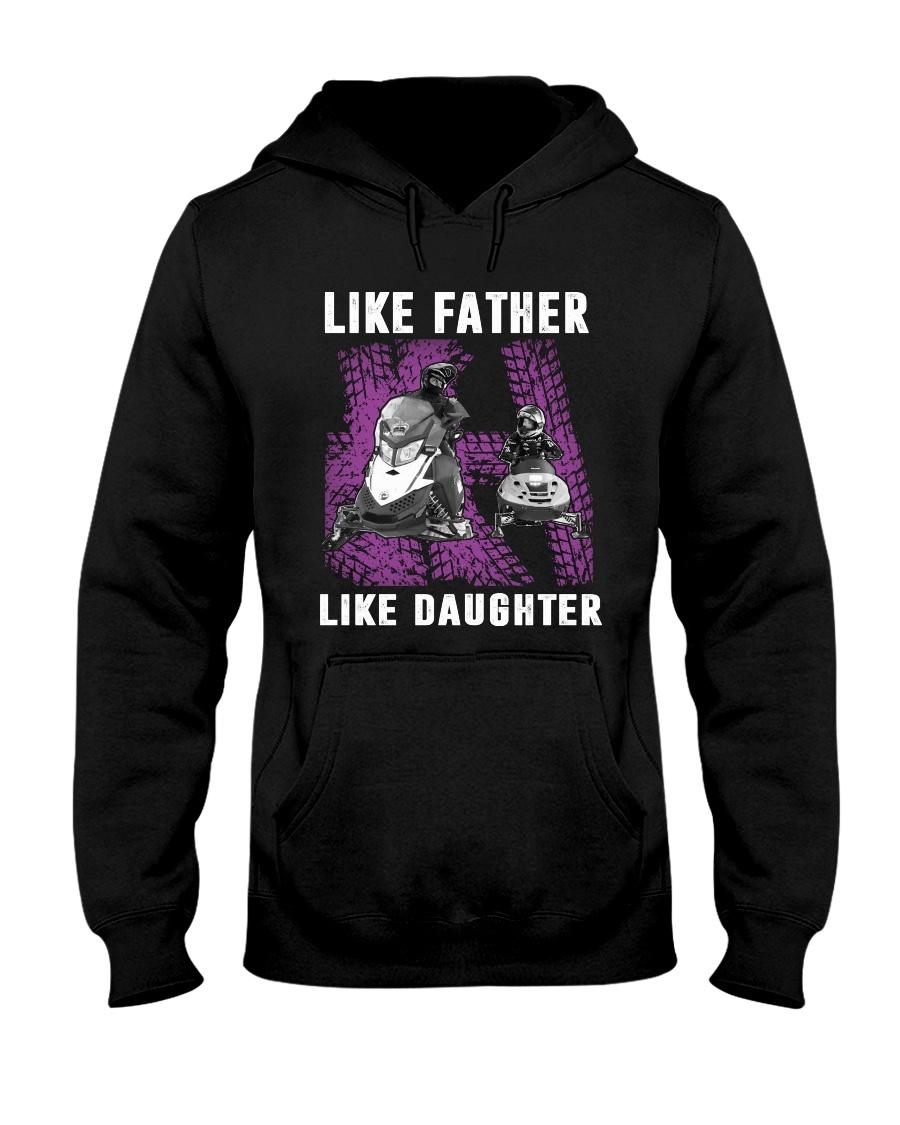 Like father like daughter snowmobile Hooded Sweatshirt