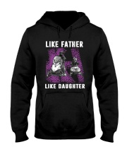 Like father like daughter snowmobile Hooded Sweatshirt front