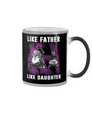 Like father like daughter snowmobile Color Changing Mug thumbnail