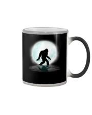 Funny bigfoot hand gesture under the moon Color Changing Mug thumbnail