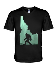 Bigfoot Idaho V-Neck T-Shirt thumbnail