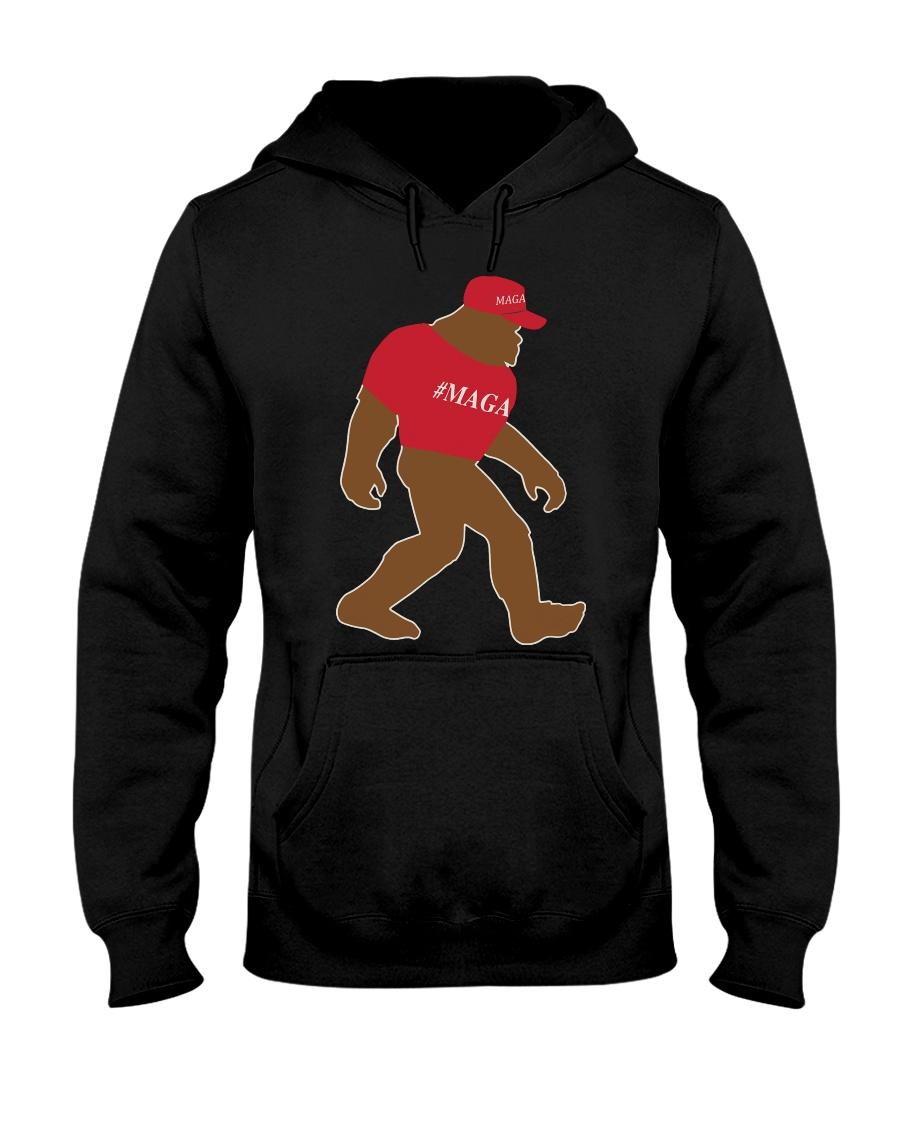 Bigfoot Maga Hooded Sweatshirt