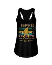 I survived Toilet paper apocalypse Ladies Flowy Tank thumbnail
