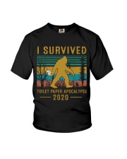I survived Toilet paper apocalypse Youth T-Shirt thumbnail