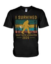 I survived Toilet paper apocalypse V-Neck T-Shirt thumbnail