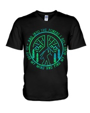 Into The Forest Bigfoot V-Neck T-Shirt thumbnail