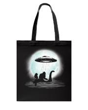 Bigfoot and mermaid UFO under the moon Tote Bag thumbnail