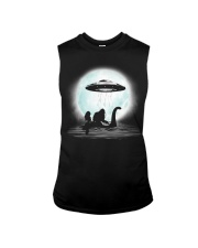 Bigfoot and mermaid UFO under the moon Sleeveless Tee thumbnail