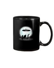 Bigfoot and mermaid UFO under the moon Mug thumbnail