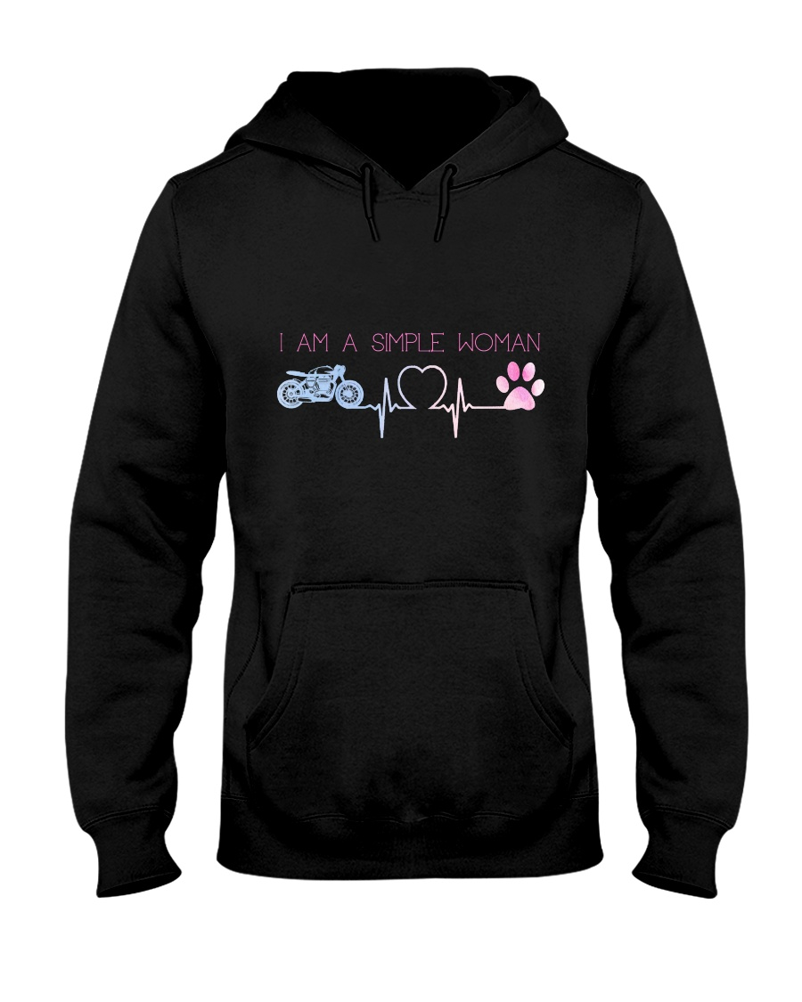 Motorcycle Dog Simple Woman Hooded Sweatshirt