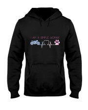 Motorcycle Dog Simple Woman Hooded Sweatshirt front