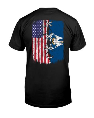 Louisiana and American flag 0037