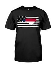 American and North Carolina map 9993 0037 Classic T-Shirt thumbnail