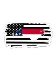 American and North Carolina map 9993 0037 Sticker - Single (Horizontal) thumbnail