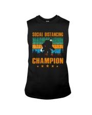 Social distancing champion Sleeveless Tee thumbnail