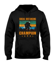 Social distancing champion Hooded Sweatshirt front