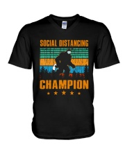Social distancing champion V-Neck T-Shirt thumbnail