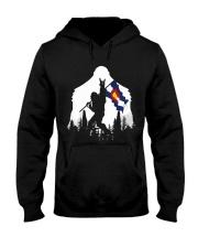 Colorado Flag Bigfoot Rock and roll Hooded Sweatshirt front