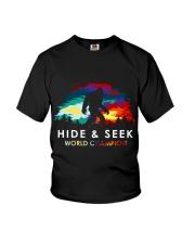Bigfoot Hide And Seek Seven Colors sale Youth T-Shirt thumbnail