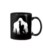 Bigfoot middle finger  in the forest Mug thumbnail