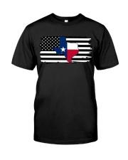 American and Texas map 9993 0037 Classic T-Shirt thumbnail