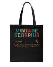 Vintage Scorpius Tote Bag thumbnail