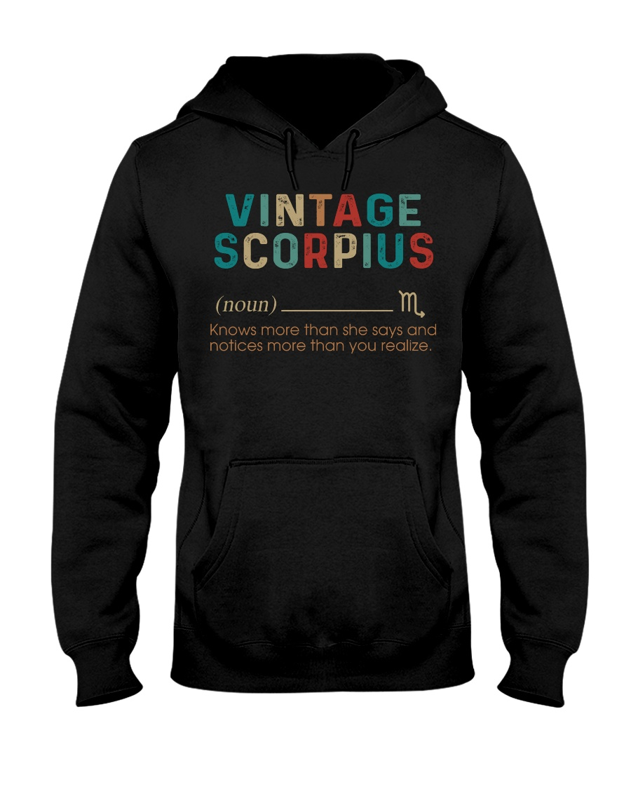 Vintage Scorpius Hooded Sweatshirt