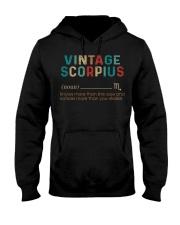 Vintage Scorpius Hooded Sweatshirt front