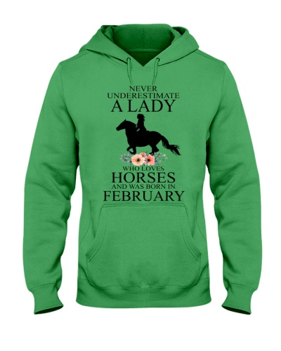 A lady who loves horses and was born in February