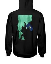 Vermont - Bigfoot Flag 2 sides Hooded Sweatshirt back