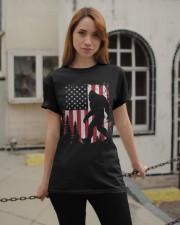 Bigfoot  American USA Flag T-shirt Classic T-Shirt apparel-classic-tshirt-lifestyle-19