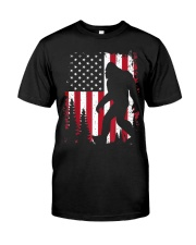Bigfoot  American USA Flag T-shirt Classic T-Shirt front