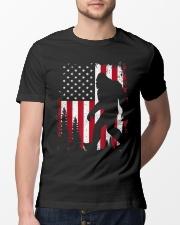 Bigfoot  American USA Flag T-shirt Classic T-Shirt lifestyle-mens-crewneck-front-13