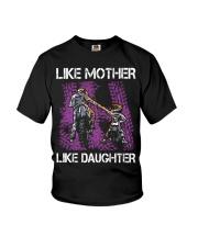 Like mother like daughter motorcross Youth T-Shirt thumbnail