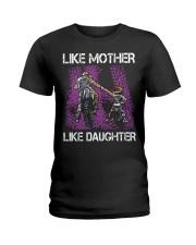 Like mother like daughter motorcross Ladies T-Shirt thumbnail