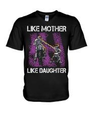 Like mother like daughter motorcross V-Neck T-Shirt thumbnail