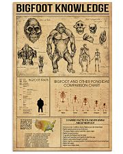 Bigfoot knowledge poster 24x36 Poster front