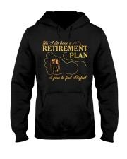 Bigfoot Reitrement Plan Hooded Sweatshirt front