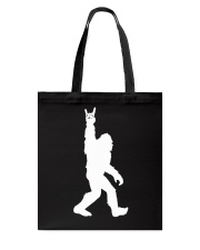 Funny bigfoot rocking under the moon - two side Tote Bag thumbnail